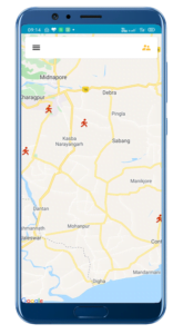 Employee Tracking System Screen 1
